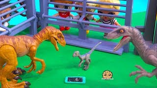 Download Girl Drops Cell Phone Into Dinosaur Cage ! Jurassic World Raptor Play Video Video