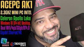 Download ACEPC AK1 4K MiniPC Intel 4GB 32GB EMMC, WIN 10 💻 : LGTV Review Video