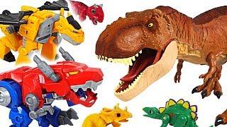 Download Jurassic World Fallen Kingdom dinosaur T-rex appeared! Transformers Rescue Bots! Go! - DuDuPopTOY Video