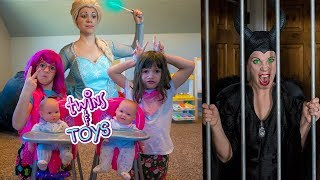 Download LOCKED UP again!! Elsa sends Maleficent to JAIL for waking up the BABIES! Video