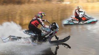 Download GSX-R Snowbike VS SeaDoo Spark (world record?) Video
