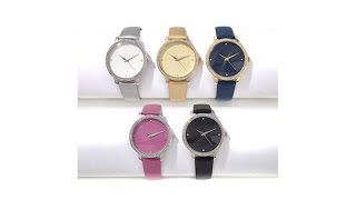 Download Manhattan by Croton Set of 5 Crystal Bezel Strap Watches Video