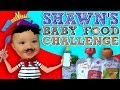 Download Shawn's BABY FOOD Challenge! Baby's First Time Trying! (FUNnel Vision Eating Fun!) Video