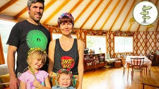 Download Family Quits City Life to Live Off-Grid in a Giant Yurt Video