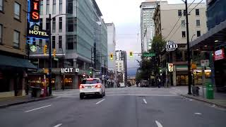Download Downtown Vancouver Canada. Driving in City Centre. Morning Drive 2018. Over 1 Hour! Video