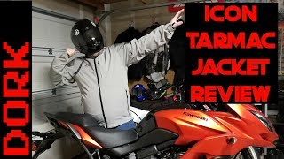 Download Icon Tarmac Jacket Review: Comfortable Casual Motorcycle Jacket With Great Impact Protection Video