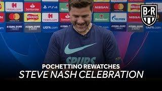 Download Mauricio Pochettino Watches Steve Nash Celebration After Tottenham Defeat Ajax Video