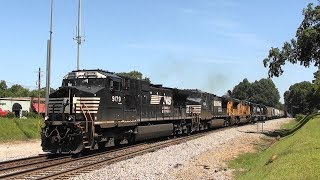 Download NS 119 with a long train in Stockbridge, Ga. Video