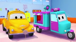 Download Tom The Tow Truck and the Candy Car in Car City   Cars & Trucks construction cartoon (for children) Video