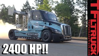 Download 2,400 HP Freightliner Pikes Peak Hill Climb Race Truck Is Porsche Quick! Video