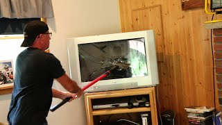 Download PSYCHO DAD SMASHES TV! Video