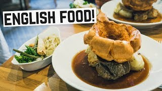 Download English Food - Sunday Roast, Bangers & Mash and Bubble & Squeak! (Americans try British Food) Video