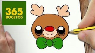 Download COMO DIBUJAR UN RUDOLF PARA NAVIDAD PASO A PASO: Dibujos kawaii navideños - How to draw a rudolf Video