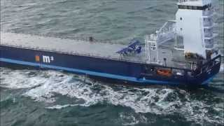 Download Extreme small plane landing on a ship at sea - and subsequent takeoff Video