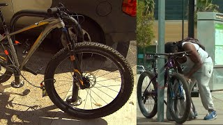 Download Watch How Crafty Thieves Are at Stealing Bicycles Video