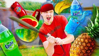 Download REAL LIFE FRUIT NINJA CHALLENGE! Video