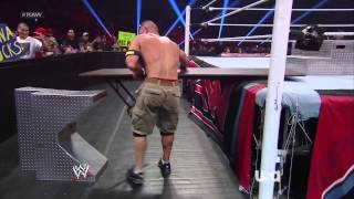 Download Raw 07/29/2013 John Cena vs Ryback HD Table Match Part 1 Video
