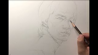 Download Drawing Portrait of Bruce Lee(speed sketch &1.5x video) 인물 스케치, 이소룡 Video
