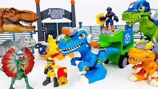 Download Dinosaurs Are Escaping The Jurassic Park~! Go Chomp Squad Raptor Compactor - ToyMart TV Video