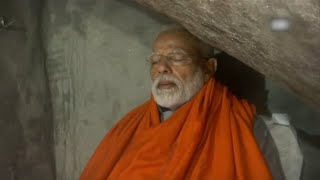 Download Day after campaign ends, PM Modi meditates in cave near Kedarnath shrine Video