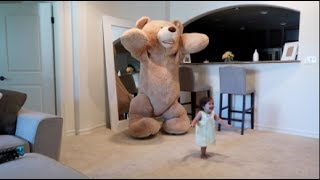 Download DADDY PRANKS BABY WITH HUGE TEDDY BEAR!!! Video