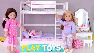 Download Play AG Doll Bunk Bed Room and Bathroom Toys! 🎀 Video
