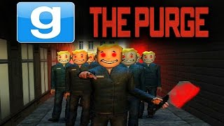 Download GMOD - THE PURGE EVERYONE WANTS MURDER!! Garry's Mod SCARY HUNGER GAMES!! | (GMOD Gameplay) Video