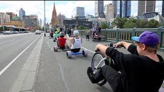 Download Urban Drift Triking - SlideMelbourne Bull Run Video