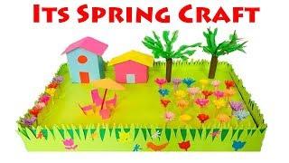 Download Spring Season 3D Model For School Project Ideas | Spring Season Paper Crafts for School Kids Video