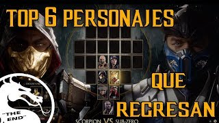 Download Top 6 Personajes Que Regresarán A Mortal Kombat 11 |″The End″ Video