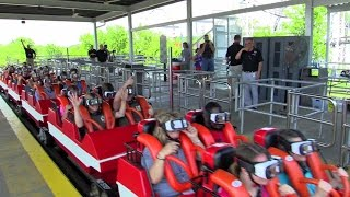 Download First riders on the New Revolution at Six Flags St. Louis HD off-ride @60fps Video