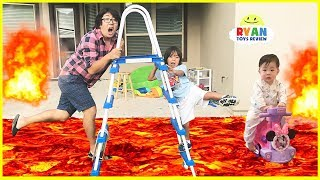 Download The Floor is Lava Challenge Pretend Play Video