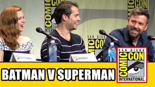Download Batman v Superman Dawn of Justice Comic Con Panel - Ben Affleck, Henry Cavill, Gal Gadot, Amy Adams Video