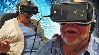 Download Grandparents React to VR Virtual Reality Oculus for the First Time Video