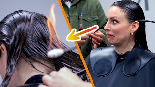 Download Women Try Fire Haircuts Video