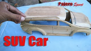 Download How to make miniature SUV car ″PAJERO Sport″ From Wood. Video