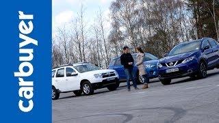 Download Best 4x4s and SUVs - Nissan Qashqai vs Dacia Duster vs Mazda CX-5 - Carbuyer Video