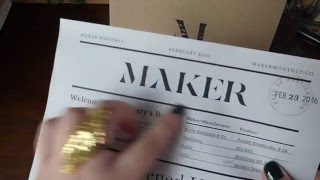 Download UNBOXING - Maker Monthly February Box Video