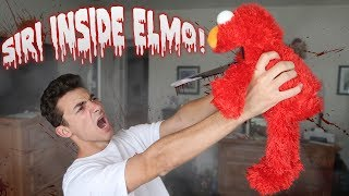 Download (SIRI IN ELMO) DO NOT PLAY WITH ELMO AND SIRI AT 3AM! ONE MAN HIDE AND SEEK WITH SIRI INSIDE ELMO! Video