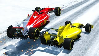 Download F1 Racing Crashes #1 (+Take Offs) - BeamNG drive Video