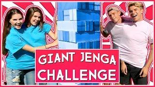 Download GIANT JENGA CHALLENGE | ROOMMATE WARS Video