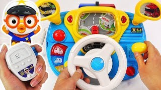 Download Pororo Police Driving play. Go! Pororo! Drive a Police car and arrest the villain! #PinkyPopTOY Video