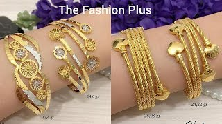 Download Stylish gold Bangle Design with WEIGHT Video