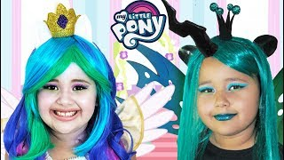 Download My Little Pony Celestia and Chrysalis | Makeup Halloween Costumes and Toys Video