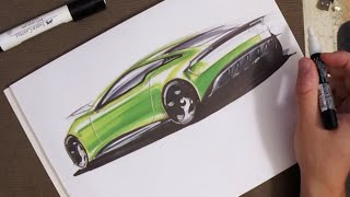 Download Copic Marker Sketching - From dirty line doodle to render Video