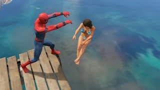 Download GTA 5 Water Ragdolls | SPIDERMAN Jumps/Fails #12 (Euphoria physics | Funny Moments) Video