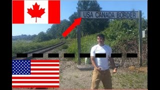 Download La frontera sin vigilancia, USA CANADA, cruce caminando, como si nada, Video