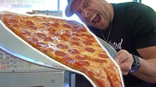 Download World's LARGEST Pizza Slice Challenge Video