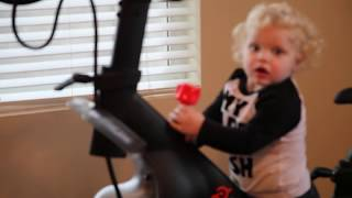Download Peloton Bike | How to attach your cleats so easy a three year old does it and exploring my new bike Video