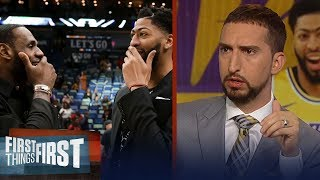 Download Lakers 'have the best duo' after Anthony Davis trade - Nick Wright   NBA   FIRST THINGS FIRST Video